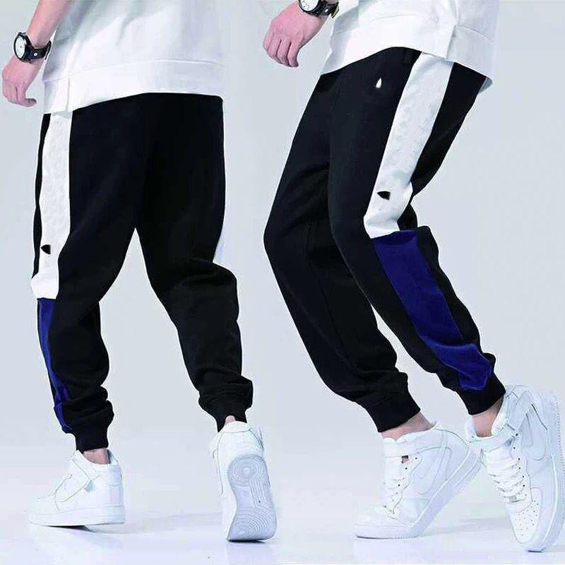 adidas الخريف أزياء العلامة التجارية الملابس الداخلية للرجال سروال المسار ركض مع AD رسائل الربيع الرجال بنطال رياضة الرباط بسط ركض الملابس بالجملة