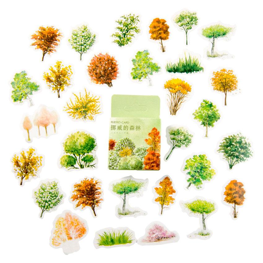 Norwegian forests Stickers Decor Adhesive Animals Paper Stickers Diary Scrapbooking Decorations For Photo Album Diy