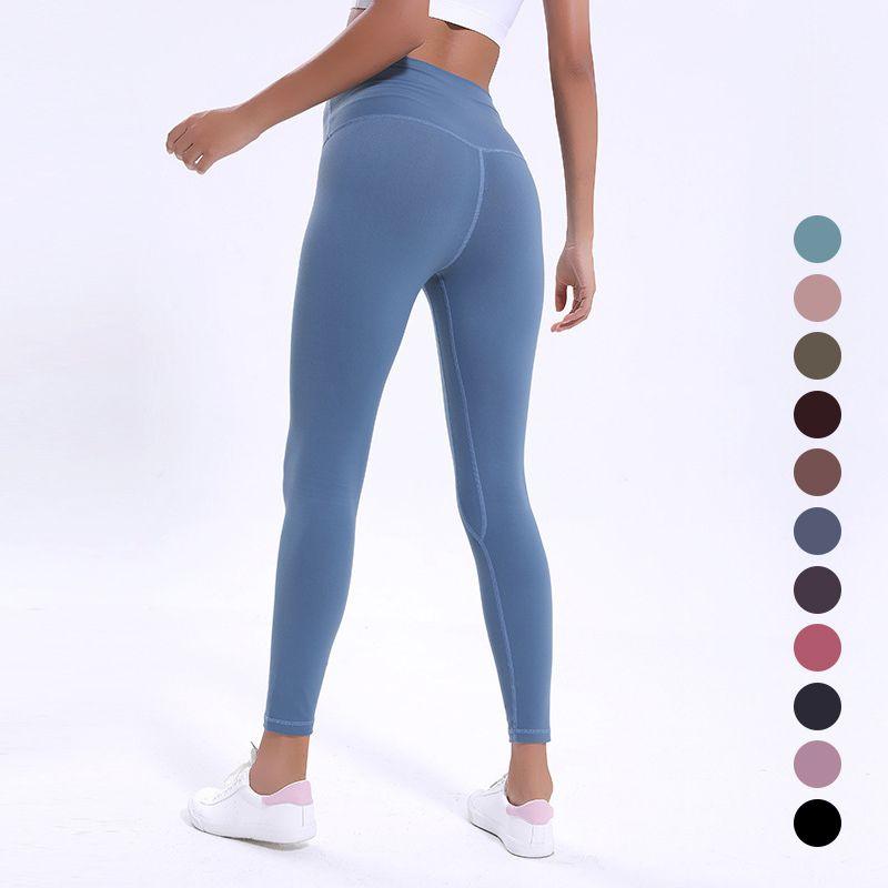Mujeres Yoga Pantalones Trajes señoras de Deportes completa polainas de las señoras aptitud del ejercicio de llevar las polainas Marca Ejecución L-058