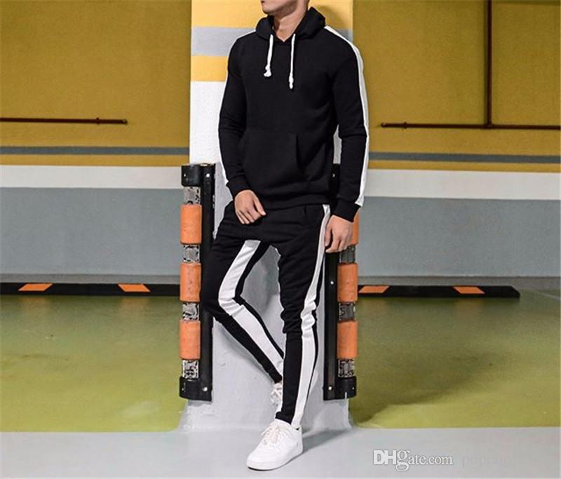 mens designer tracksuits 20FW Hoodies Pants 2pcs Outfits Autumn Winter New 2pcs Sports Clothing Sets Suits