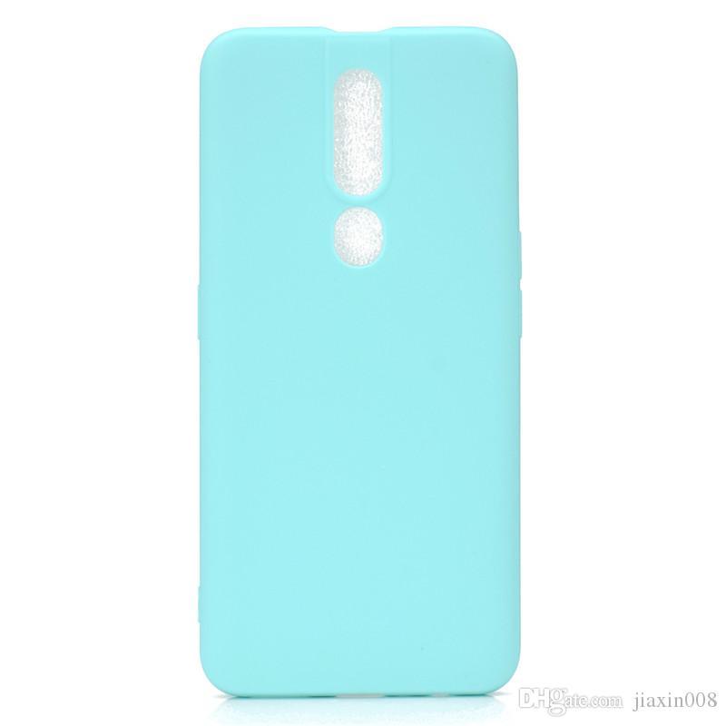 Şeker Renk Kapak OPPO F9 Durumda Yumuşak TPU Ultrathin Tasarımcı Mobie OPPO F11 Pro Için Telefon Kılıfları Capinha
