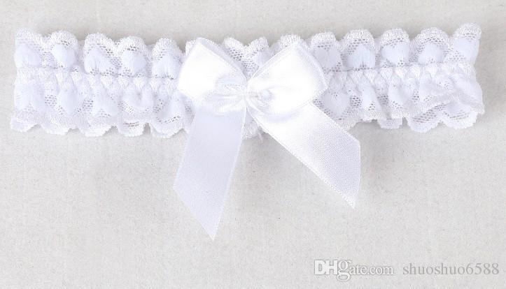 Freies Verschiffen 2019 neu kommen heißer Verkaufsweißer Spitzestrumpfbänder bowknot Blumen Beinring an, der Brautstrumpfhalter shuoshuo6588 Wedding ist