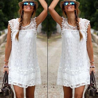 2017 partido del cordón del famoso noche de las mujeres del vestido del verano señoras de los cortocircuitos del cordón de costura blanco de mini vestido
