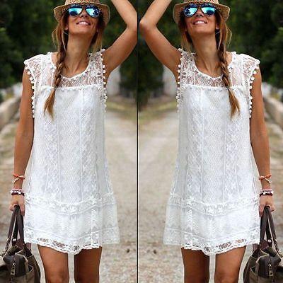 2017 partito del merletto Celeb estate delle donne del vestito da sera signore shorts in pizzo cuciture bianco di mini vestito