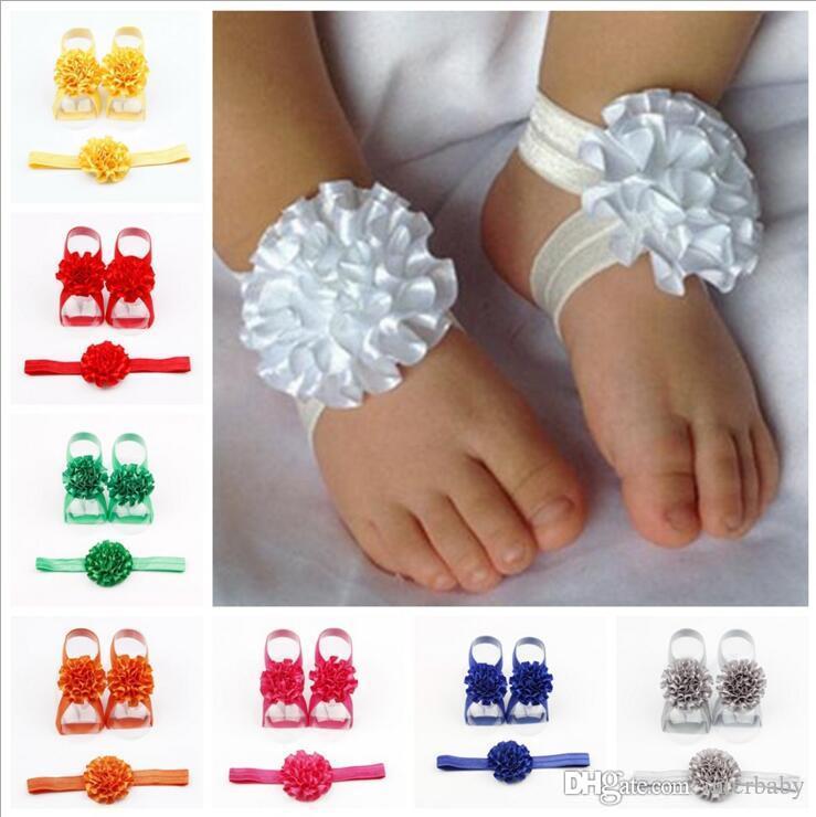 Girls Barefoot Sandals Baby Accessories