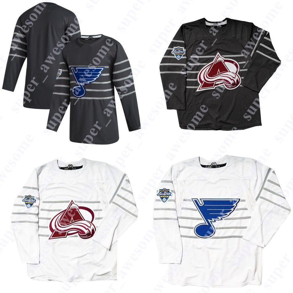 2020 All Star Jersey Colorado Avalanche 29 Nathan Mackinnon St. Louis Blues 90 Ryan O'Reilly 27 Alex Pietrangelo David Perron 50 Binnington