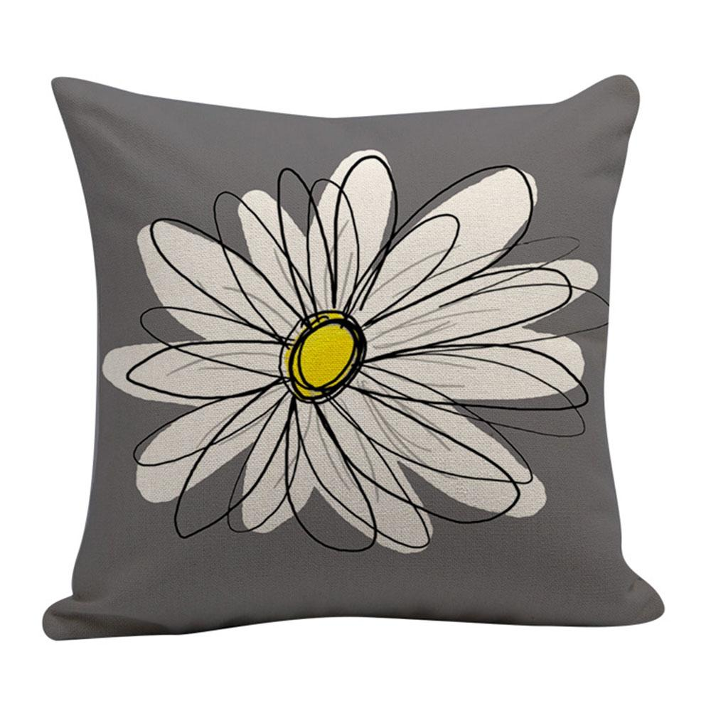 Cushion Gray Letter Series Pattern Short Plush Pillowcase Digital Printing Office Living Room Decoration Cushion Cover New 2019