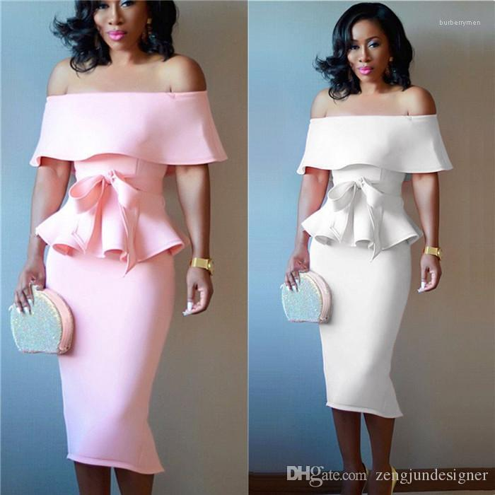 2Pcs Dresses Butterfly Sleeve Short OL Style Female Clothing Fashion Sexy Casual Apparel Women Summer Designer