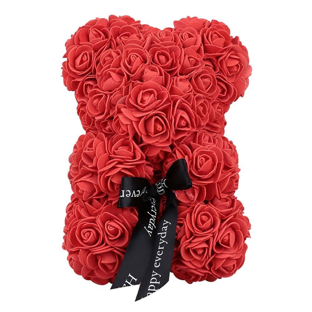 23 سنتيمتر الإبداعية رغوة الدب الورود الدب روز زهرة الاصطناعي هدايا السنة الجديدة للنساء هدية عيد الحب هدية