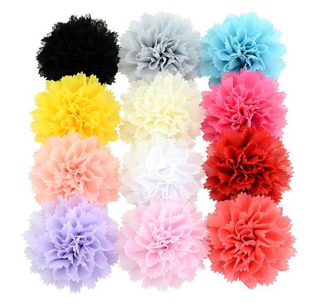 Mix Color Girls chiffon flower Style Hair Clip Children Head Bands Girls Fashion Flower bow Clip Barrette Kids Hair Accessories Hairpin 742