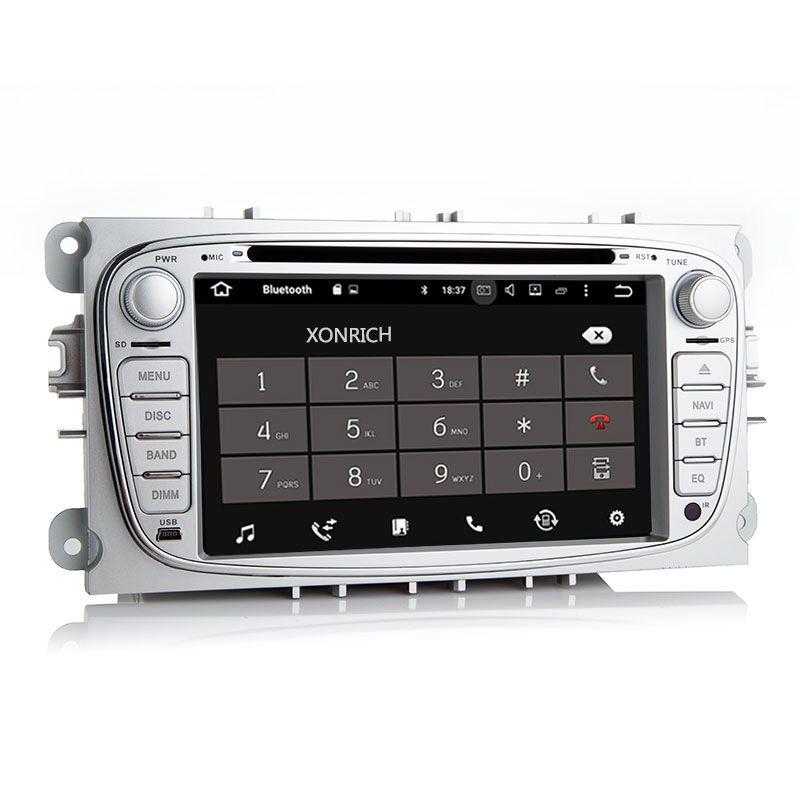 YLCCC Radio De Coche De Navegaci/ón GPS para Ford Fiesta 2012-2017 Android 8.1 Est/éreo del Coche 9de Pantalla T/áctil Llamadas Manos Libres Espejo Link 2 DIN Dab SWC
