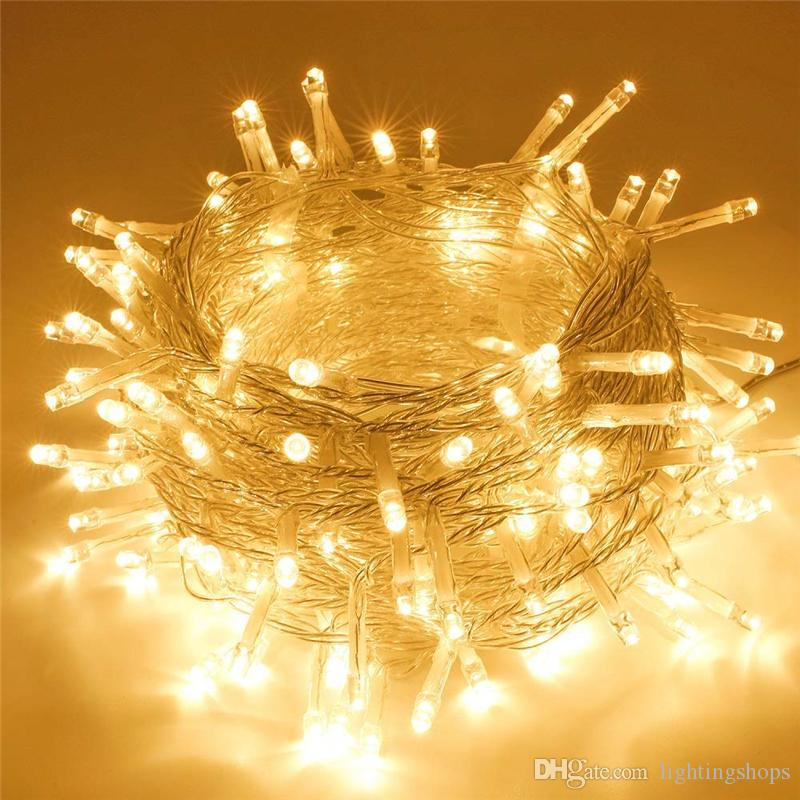 LED String Lights Christmas Fairy Lights 10M 80LEDs Battery Operated Waterproof Christmas Lighting for Party Bedroom Indoor Outdoor