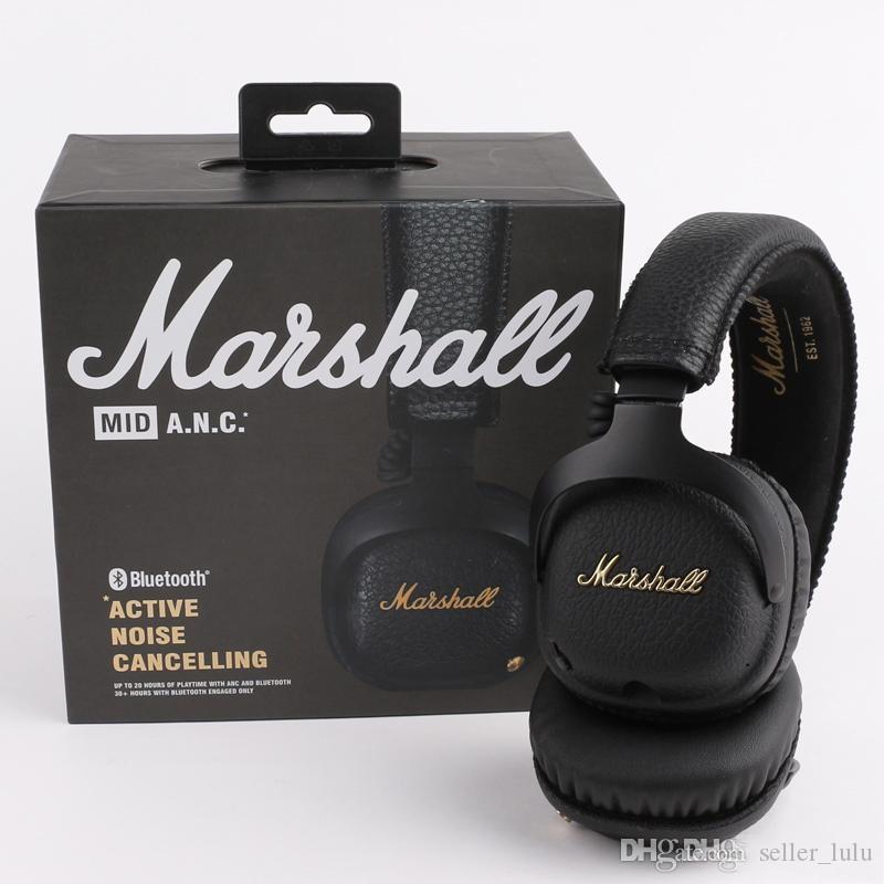 Marshall MID ANC Bluetooth Headphones Ativo cancelamento de ruído sem fios DJ Headphone Deep Bass Gaming Headset para iPhone Samsung Smart telefone
