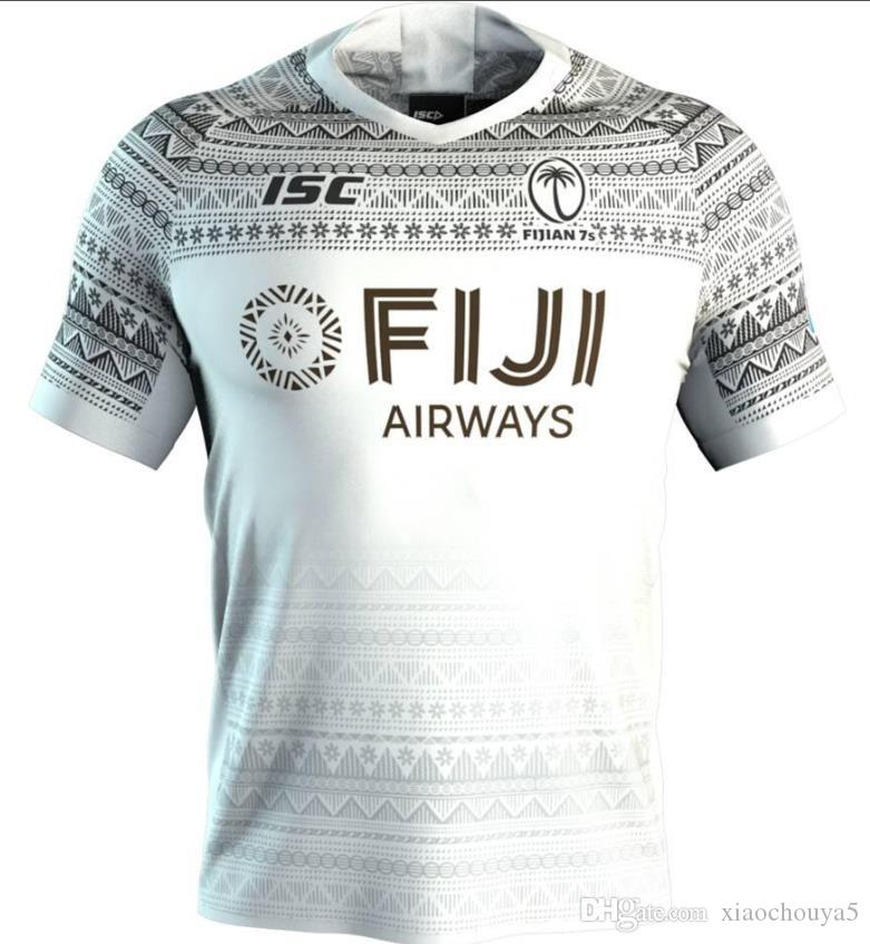 Fiji Airways 2020 Adult Home Away vol Fidjiens Rugby Jersey Shirt Kit Maillot Camiseta Maglia FIDJI taille Rugby S-L-5XL (peut imprimer)