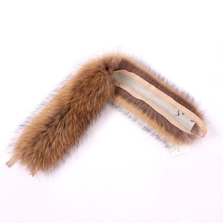 Raccoon Fur Collar Natural guarnição da pele Hoodie Custom Made gola do casaco guarnição Para baixo capa Natural