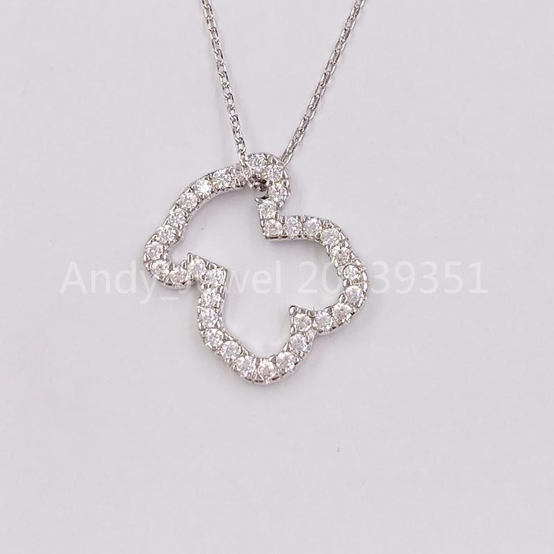 다이아몬드와 어울리는 유럽 곰 보석 스타일 선물 612534220 925 정통 스털링 실버 펜던트 화이트 골드 아이콘 보석 목걸이