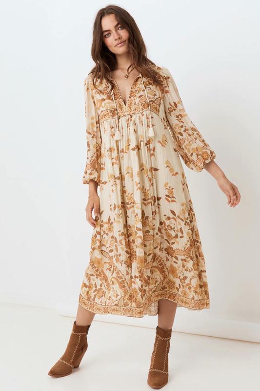 2020 Frühling, Sommer, New Quaste Bohemian gelb rosa zaraing Frauen Kleid sheining weibliches Kleid plus Größe Vintage YUP8467 vadiming