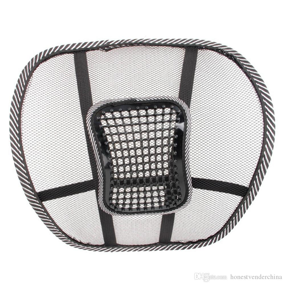 2X Car Seat Chair Cushion Cool Support Car Cushion Pad Quality Mesh Fabric Back Brace Support Office Home Back Waist Brace