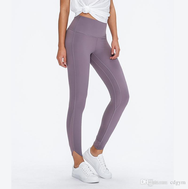 Naked-Gefühl mit hohen Taille Sport Leggings Yoga Pants Women 4-Wege-Stretch Squat Proof Fitness Gym Strumpfhose mit versteckter Tasche S2008