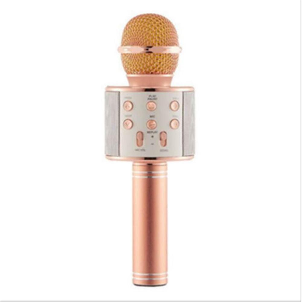 WS858 무선 USBS 마이크 전문가 콘덴서 가라오케 마이크 블루투스 스탠드 라디오 Mikrofon 스튜디오 녹음 스튜디오 WS858