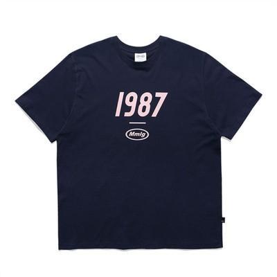 Semplice manica corta Fondazione Classic 87 millimetri Uomini E Donne Coppie tutto-fiammifero di modo di marca 1987mmlg T-shirt 2020 48NOI