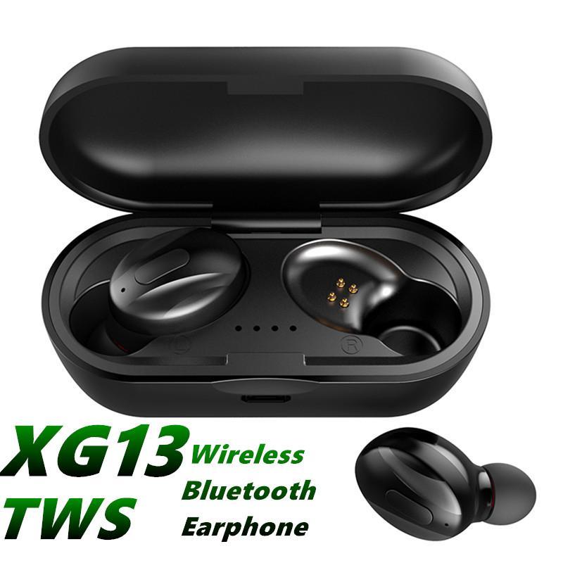 XG13 TWS Bluetooth 5.0 auricolare Mini Wireless Headphone XG13 Sport vivavoce auricolari impermeabili Doppio auricolare stereo con Charging Box MQ12