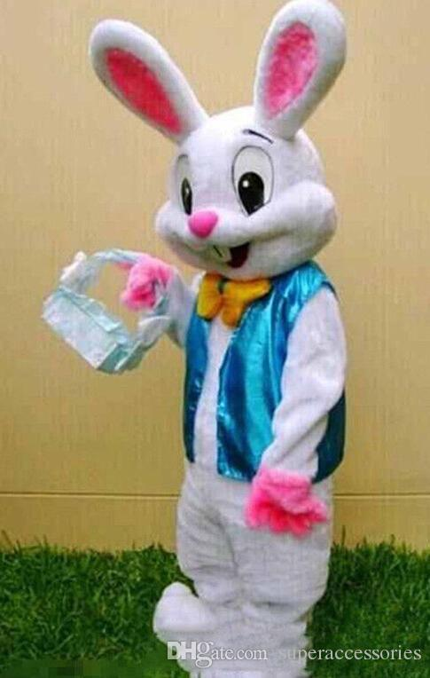 newHigh kalite PROFESYONEL PASKALYA BUNNY maskot kostüm Bugs Tavşan Hare Yetişkin Fantezi Elbise Karikatür Suit