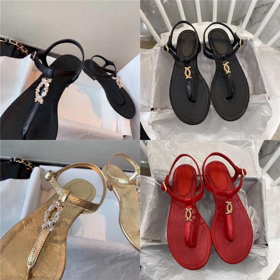 Kadınların Düz Sandal Ayakkabı Çörek Ayakkabı 2020 Yaz İndirimi Anti-Skid Kama All-Match Bej Heeled Sandalet bantlı # 535 Ayakkabılar