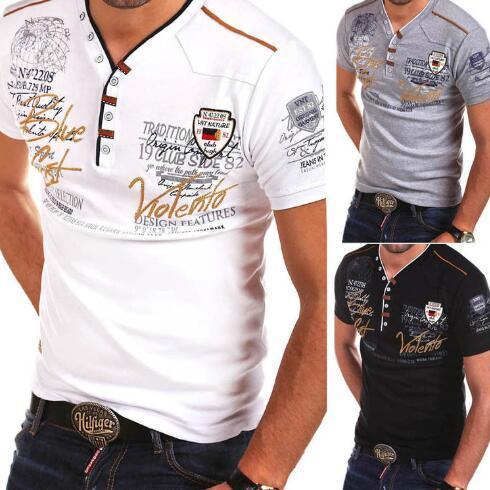 ZOGAA 2019 Verão quente camiseta Homens de manga curta Camisas Casual Men Cotton Slim Fit Hot Sale XS- 4XL