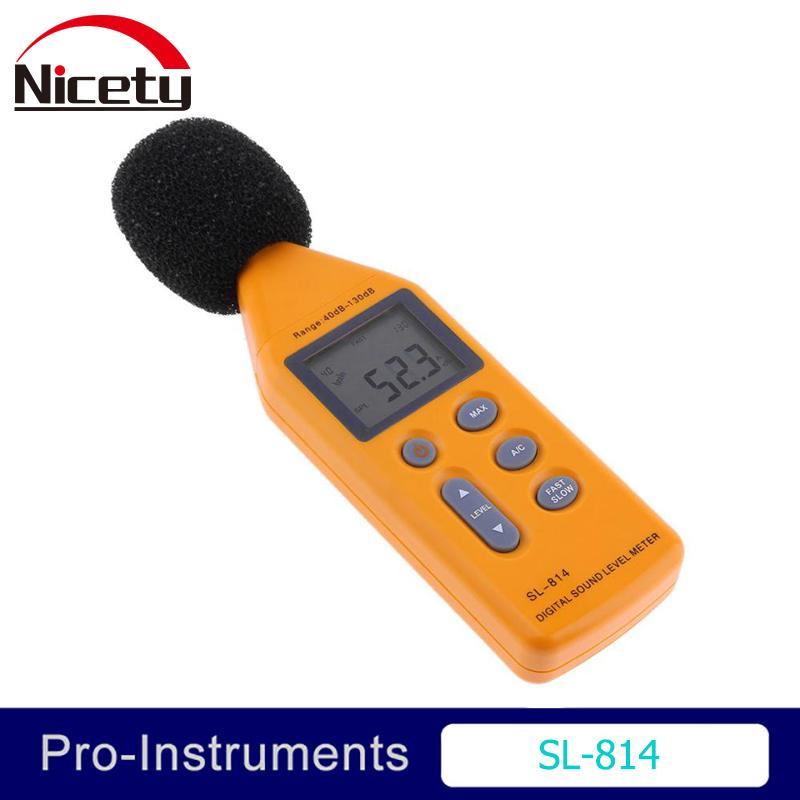 Nicety Sl-814 30-130dba Portable Digital Sound Noise Audio Level Measuring Decibel Pressure Logger Tester Monitor Null T8190619