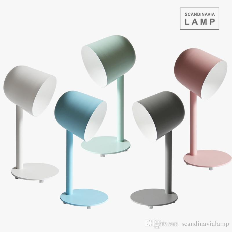 Nordic clássico moderno mesa minimalista lâmpadas de mesa de sala de ferro luz tripé colorido Reading lâmpada de mesa bola redonda
