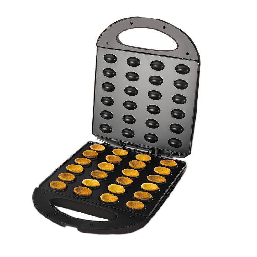 전기 월넛 케이크 메이커 자동 미니 너트 와플 빵 베이킹 아침 식사 팬 오븐 1400W 계란 케이크 오븐 팬 기계 EU 플러그 T200414