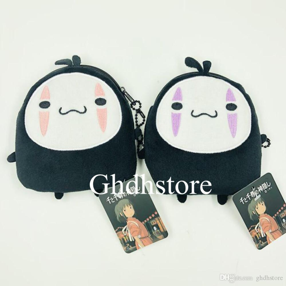 Top New 2 Styles Spirited Away Faceless Man Plush Bag Anime Collectible Soft Dolls Party Gifts Coin Bags