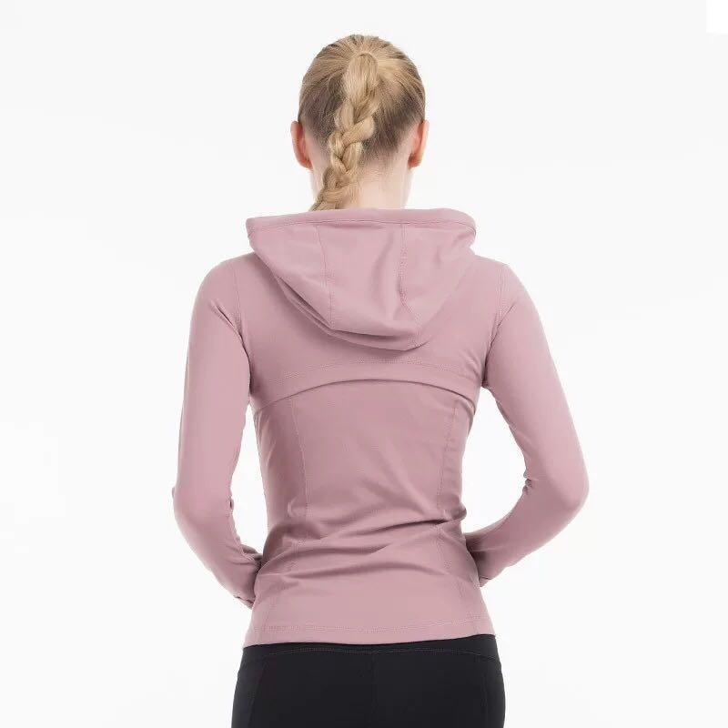 عادي هودي المرأة زمم اليوغا سترة مطاطا طويل الأكمام صالة الألعاب الرياضية الرياضة معطف للياقة البدنية الجري الملابس جنسي سليم Atheltics الملابس yogaworld