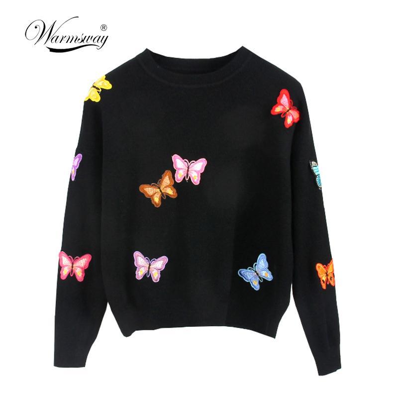 Hiqh qualità originale stile europeo new fall winer donne farfalla maglione di lusso per maglieria caldo pullover casual top c-018 y190823