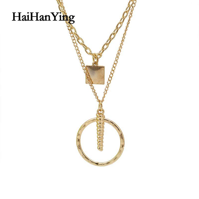 Collier Femme collier pendentif rétro géométrique étoile bohème Electroplated or Layered Parti cadeau Bijoux Glamour