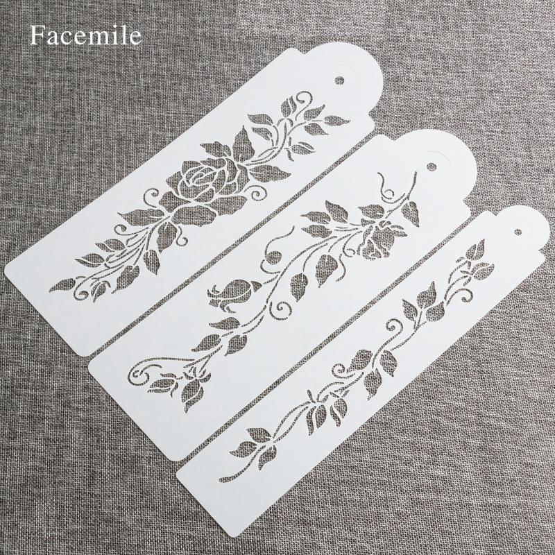Facemile 3PCS / SET árbol hojas de la vid pasta de azúcar que Deorationg de la plantilla de la boda decoración de la torta