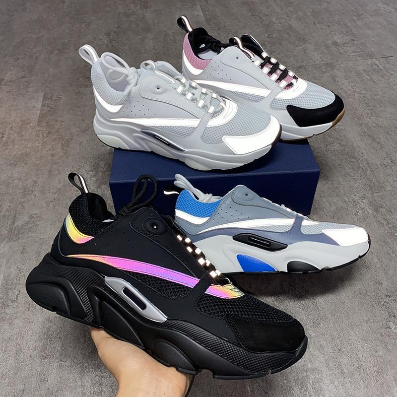 B22 zapatilla de deporte de los hombres de los zapatos de las zapatillas de deporte de la vendimia de la lona y piel de becerro Formadores unisex-top zapatos casuales zapatos de plataforma 20color grande del tamaño 35-46