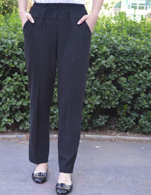 2020 осень зима женщин карандаш брюки 3XL-6XL Плюс Размер офисс Lady Drawstring Полосатые Длинные брюки Брюки высокой талией FW667