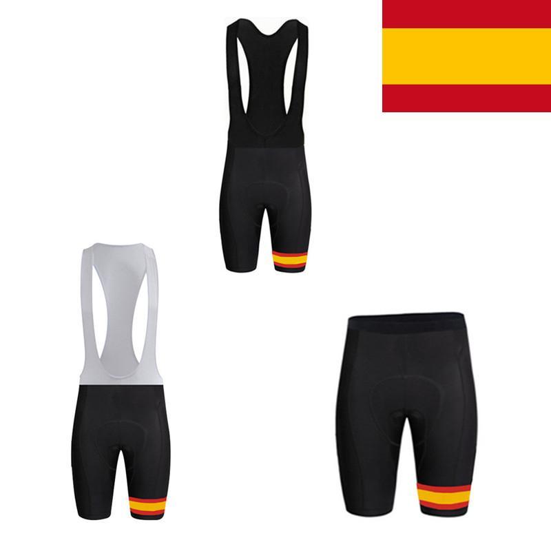 Espanha Bandeira Ciclismo Calções Gel Pad Mountain Bike bicicleta Shorts Culotte Ciclismo MTB Homens Mulheres Ciclismo Vestuário