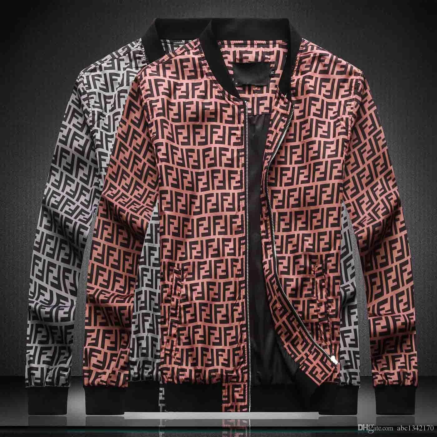 19SS-2020 Herbst-Winter-Brand New Luxury Design langärmelige Meduse Herren-Jacken Windjacke Men Casual Jacken Größe M-4XL