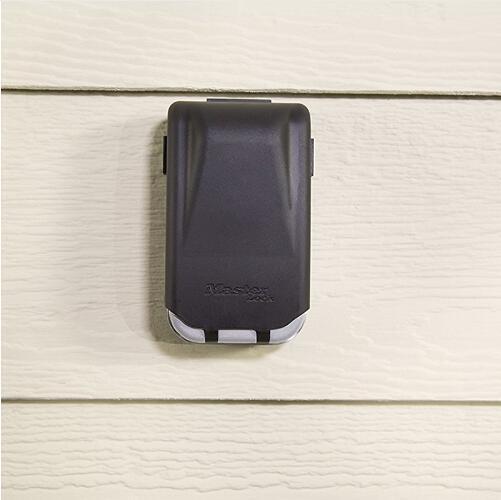 Master Lock Key-Safe Außenwand Keys Storage Box Nacht glühender 4 Code-Verschluss-Sicherheits-Organisator Boxen 5425D