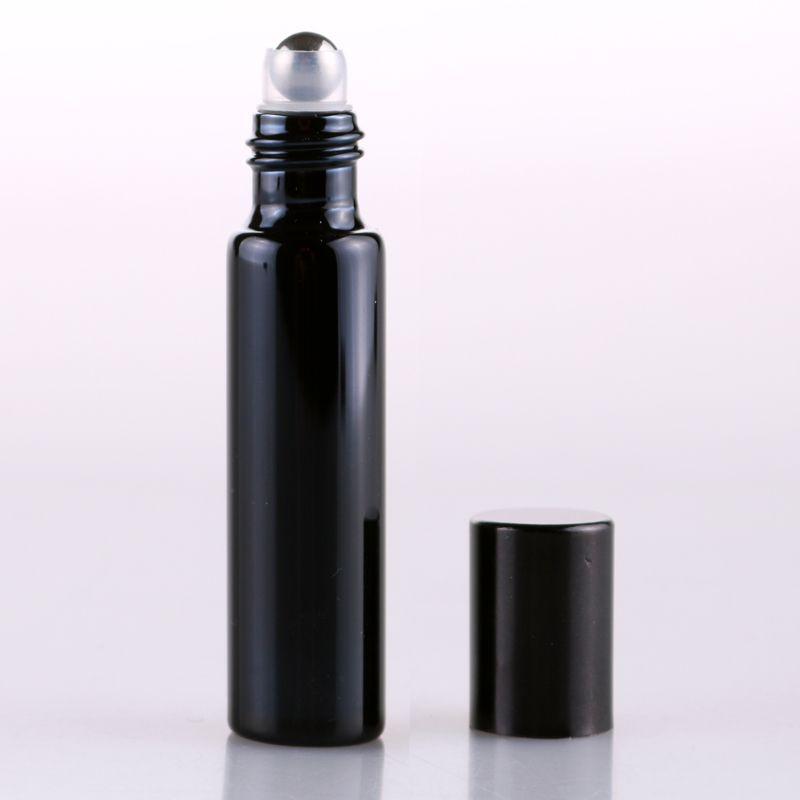 200 قطع سميكة 5 ملليلتر متجمد أسود فارغ لفة على زجاجة زجاجة ل الضروري النفط زجاجة عطر الرول الكرة جديد بواسطة dhl
