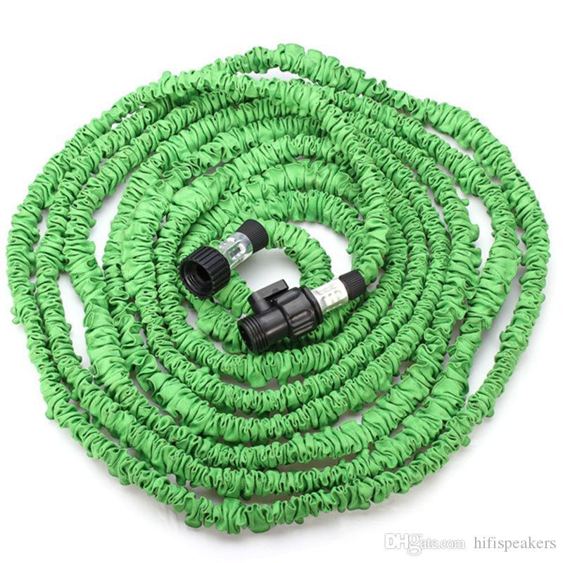 25 50 75 100FT verde flexible de la manguera del jardín del agua del coche EUUS StandardGreat agua lista para el uso familiar o construir su uso