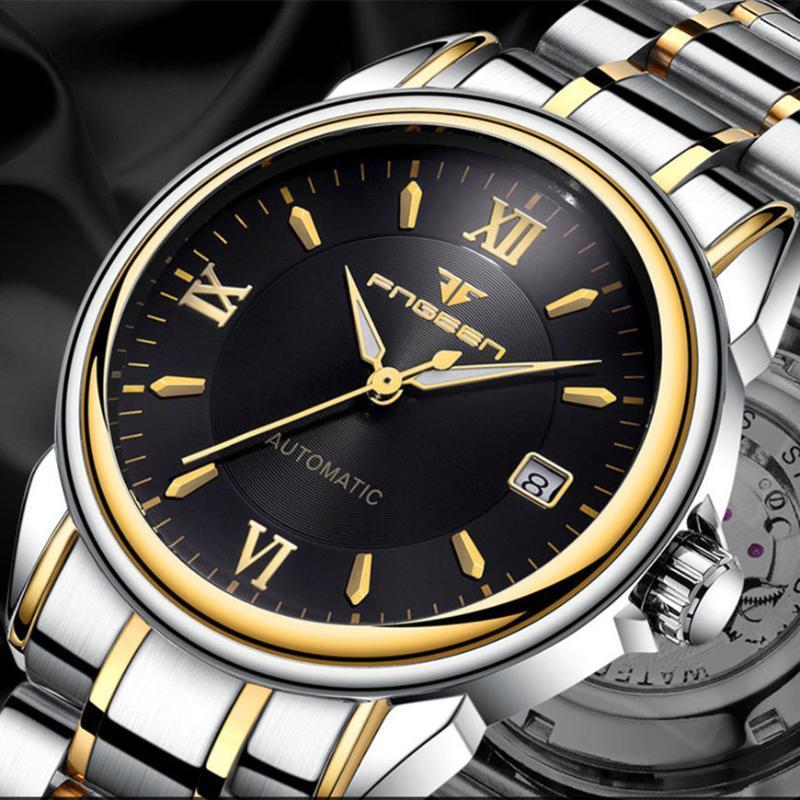 2020 uomini della vigilanza impermeabile Moda Orologio meccanico Data Clock Maschio Relogio Masculino commerciali da polso