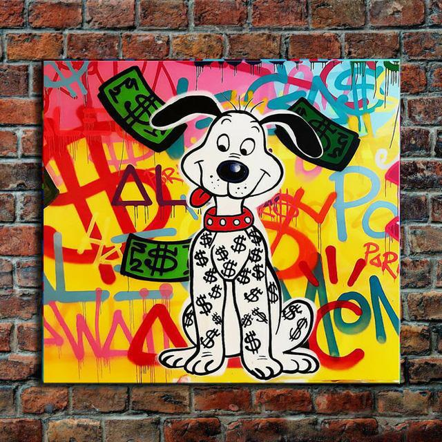 Alec Monopoly Cute dog Home Decor Handcrafts /HD Print Oil Painting On Canvas Wall Art Canvas Pictures 200518