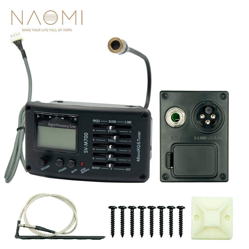 NAOMI EQ SV-M700 4 Band Guitar Guitar EQ Equalizer Guitar Preamp Guitar Parts Accessories