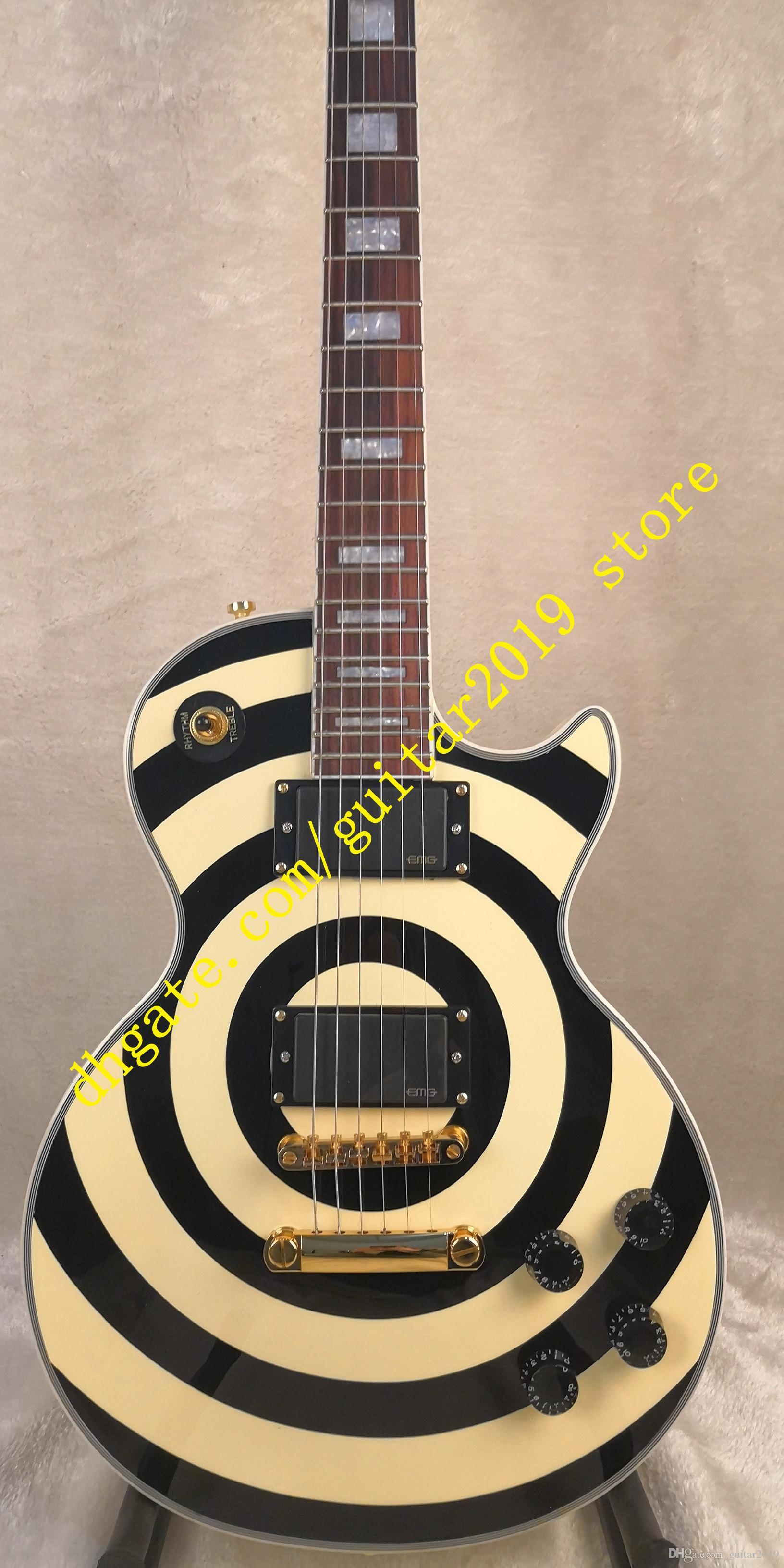 bullseye zakk com captadores ativos EMG E-M-G captadores ativos 81/85 com 9 V Bateria Guitarras Frete Grátis