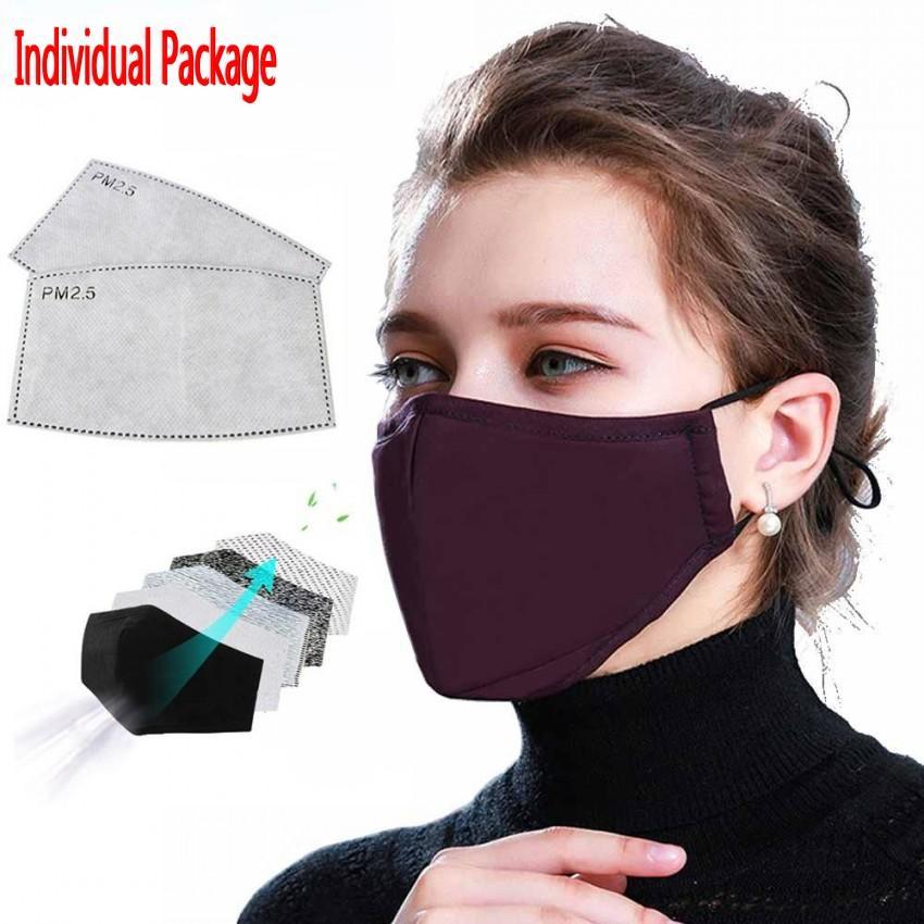 Sangles réglables Anti-poussière Masque Masque Coton Masque Masque Masque de meuble pour Cycling Camping Travel Lavables Masques de tissu réutilisables FY9049