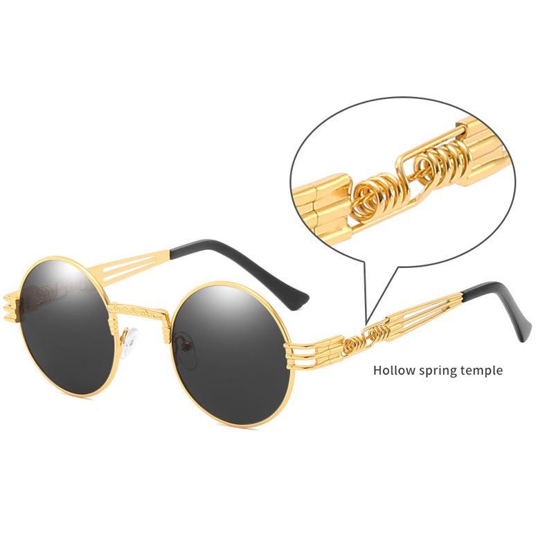 2019 YENİ Yuvarlak Steampunk Güneş Erkekler Kadınlar Moda Metal Gözlük Marka Tasarım Vintage Güneş Yüksek Kaliteli UV400 Gafas